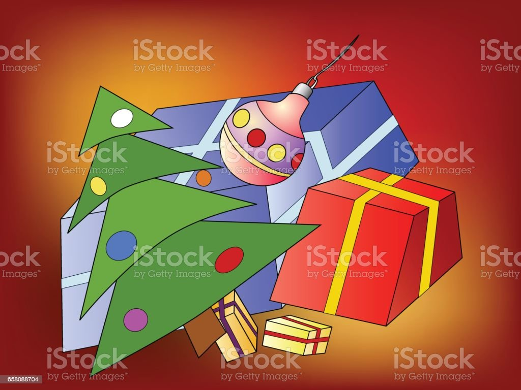 Christmas tree and Christmas presents royalty-free christmas tree and christmas presents stock vector art & more images of cartoon
