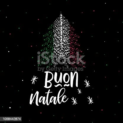 christmas tree and italian flag merry christmas and happy new year stock vector art more images of abstract 1058442874 istock