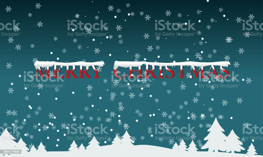 Christmas tree and snow background. Merry Christmas and Happy New Year. royalty-free christmas tree and snow background merry christmas and happy new year stock vector art & more images of art
