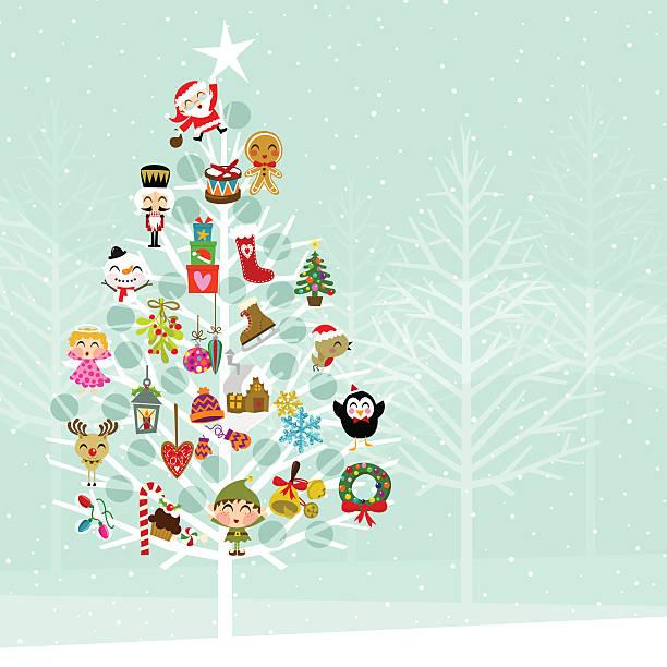 クリスマスツリー。andvent カレンダーの森 - 自然のカレンダー点のイラスト素材/クリップアート素材/マンガ素材/アイコン素材