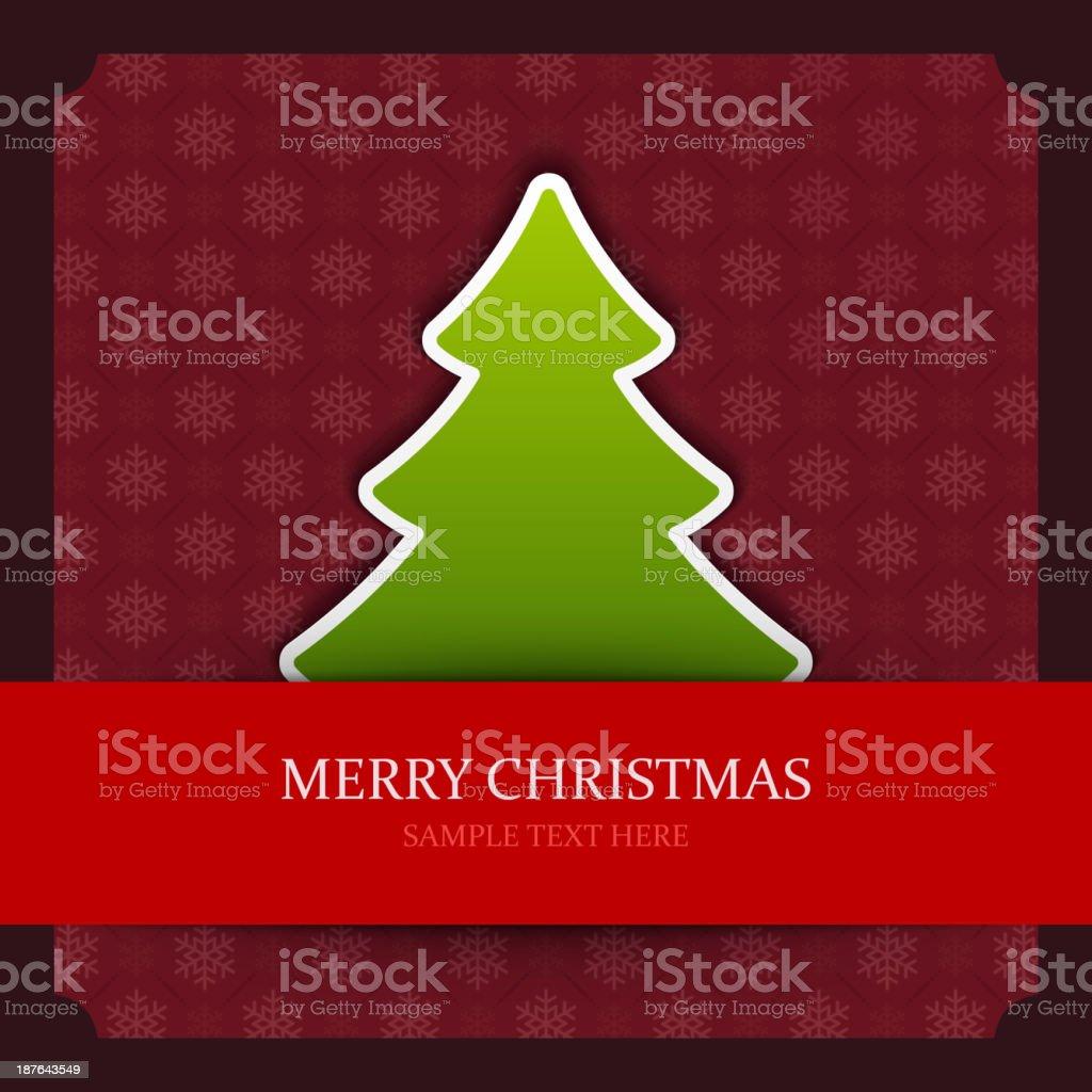 Christmas tree applique vector background. royalty-free stock vector art