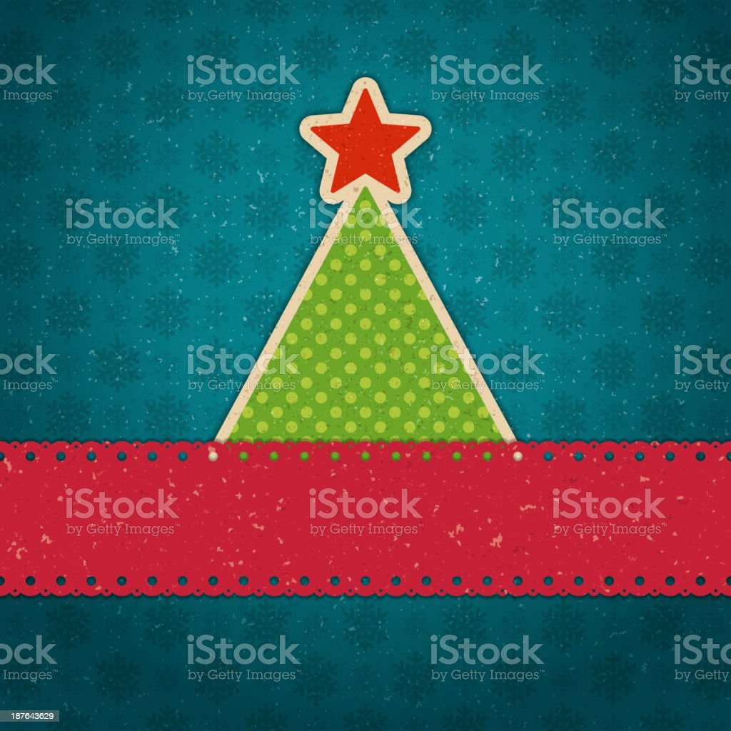 Christmas tree applique vector background. royalty-free christmas tree applique vector background stock vector art & more images of appliqué
