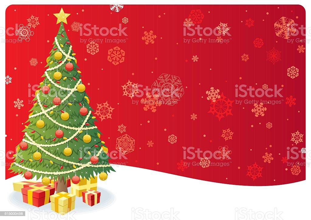 Weihnachtsbaum Hintergrund 3 Stock Vektor Art und mehr Bilder von ...