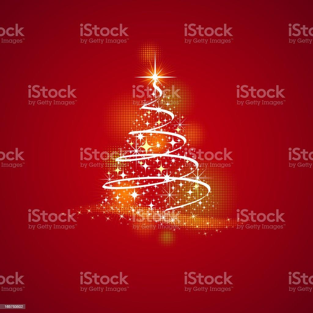 Christmas Tree Background vector art illustration