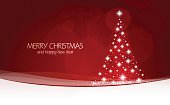 Illustration vector of a Christmas background with tree