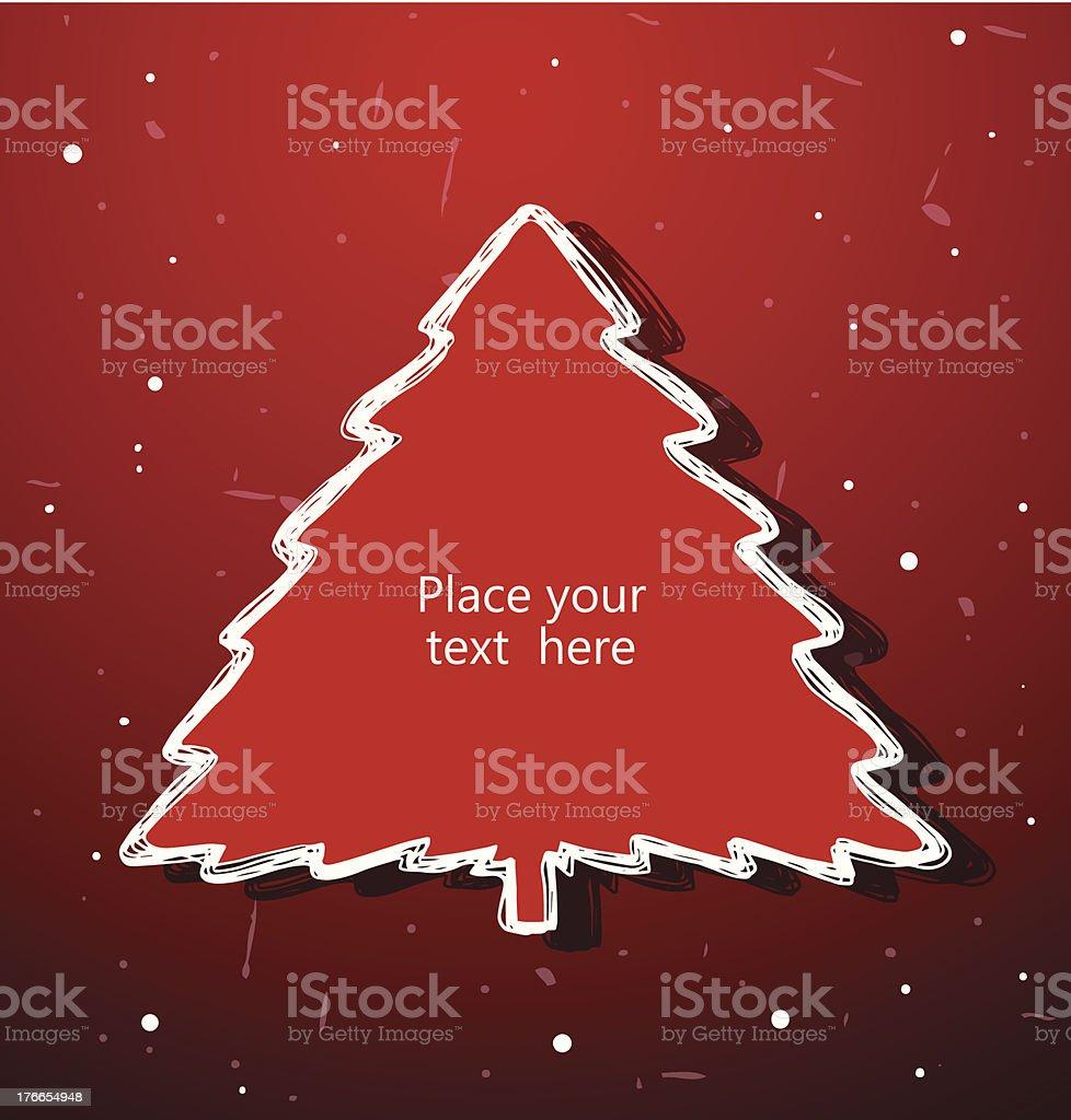 Christmas tree banner royalty-free stock vector art