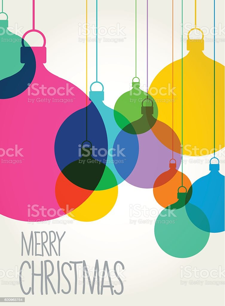 Christmas tree baubles vector art illustration