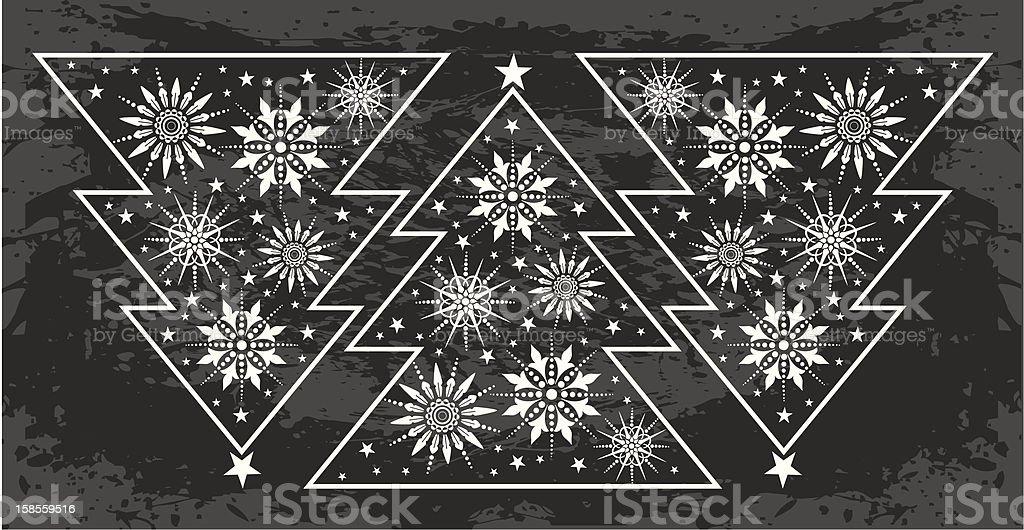 Christmas Tree border royalty-free stock vector art
