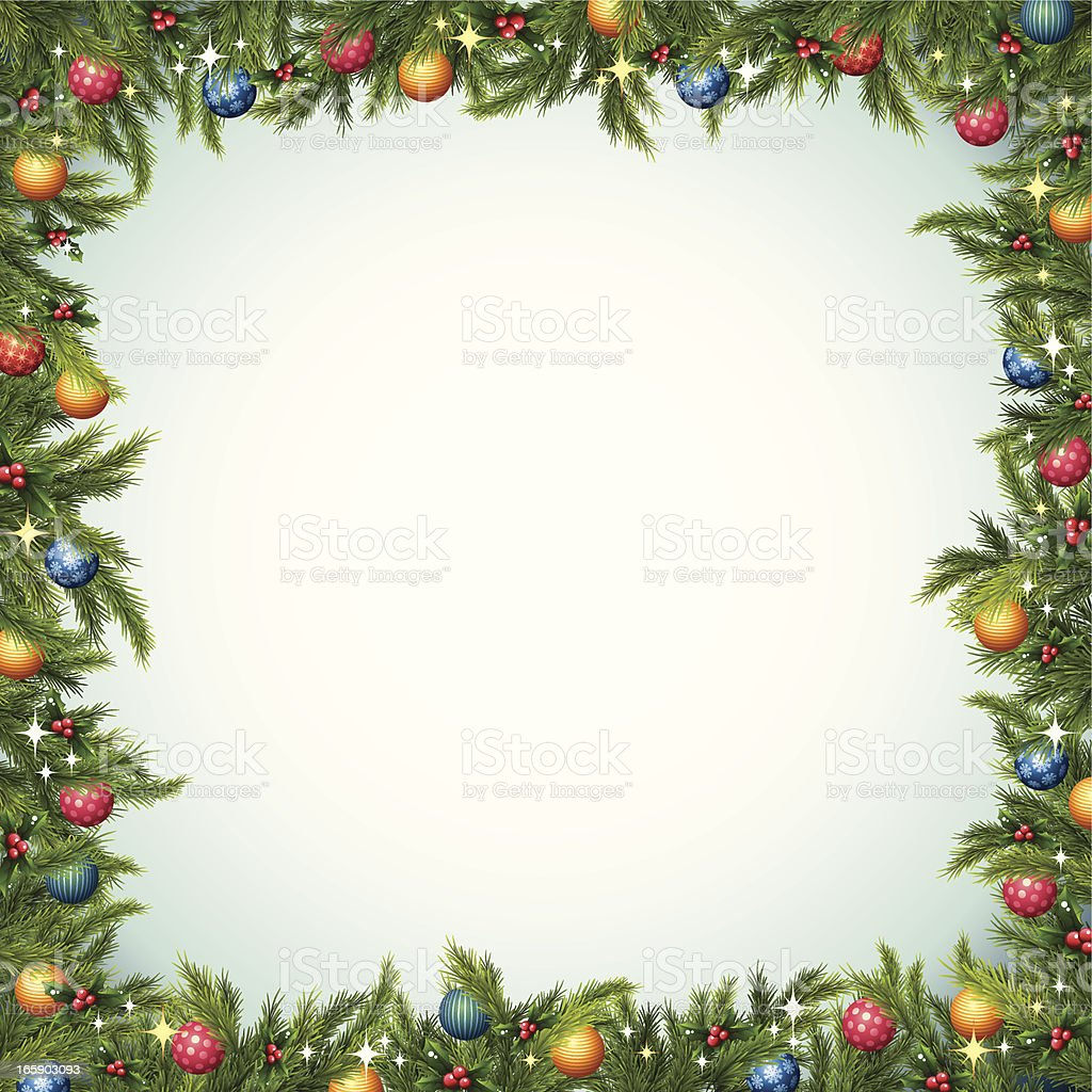 Christmas Tree - Border royalty-free stock vector art
