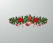Christmas decoration vector isolated on backgroundChristmas decoration vector isolated on background
