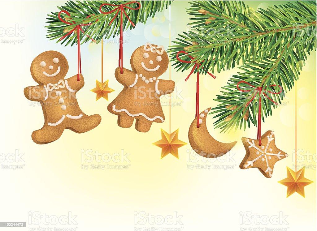 Albero Di Natale Decorato Con Biscotti.Albero Di Natale Decorato Con Biscotti Immagini Vettoriali Stock E Altre Immagini Di A Forma Di Stella Istock