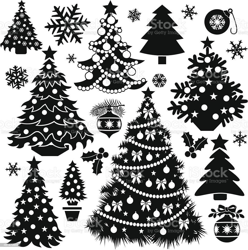 Christmas tree design elements royalty-free stock vector art