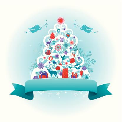 Christmas Tree design   Teal series