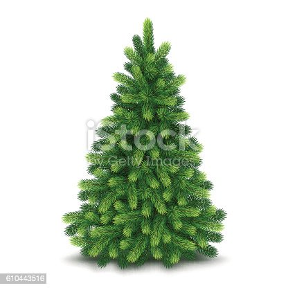 istock Christmas tree, detailed vector illustration 610443516