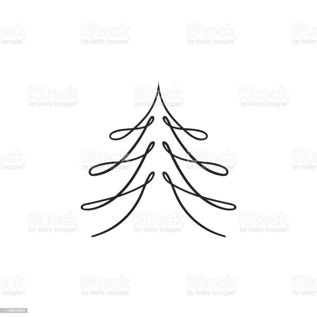 Vetores De Arvore De Natal Doodle Arvore De Pinho Esboco Arvore