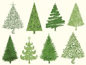 Group of hand drawn,painted and textured trees.All elements are separate. File is layered and global colors used.Hi res jpeg included.More works like this linked below.