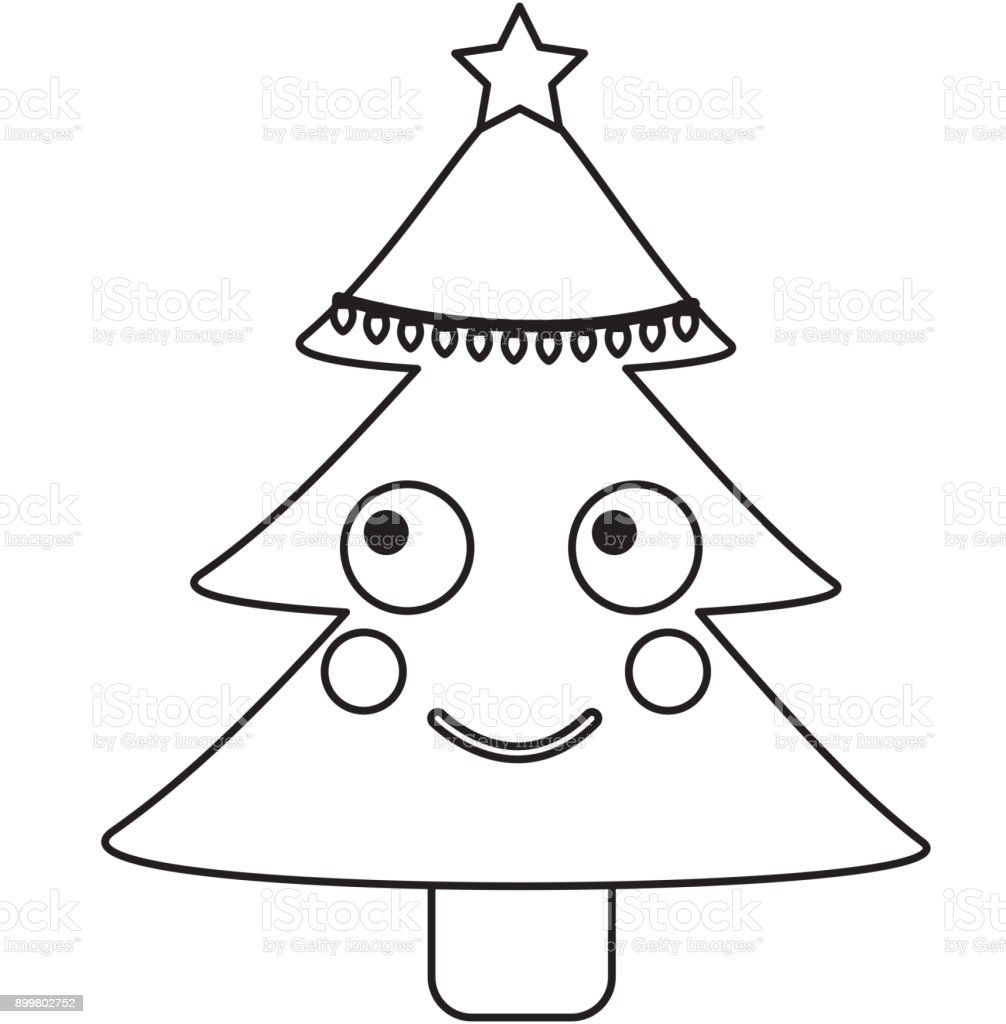 Christmas Tree Emoji.Christmas Tree Emoji Icon Image Stock Vector Art More