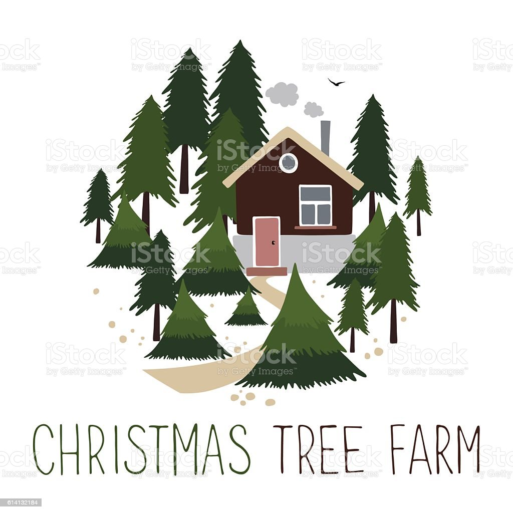 christmas tree farm vector illustration royalty free christmas tree farm vector illustration stock vector - Christmas Tree Farms For Sale