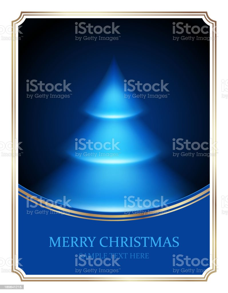 Christmas tree from light vector background. royalty-free stock vector art