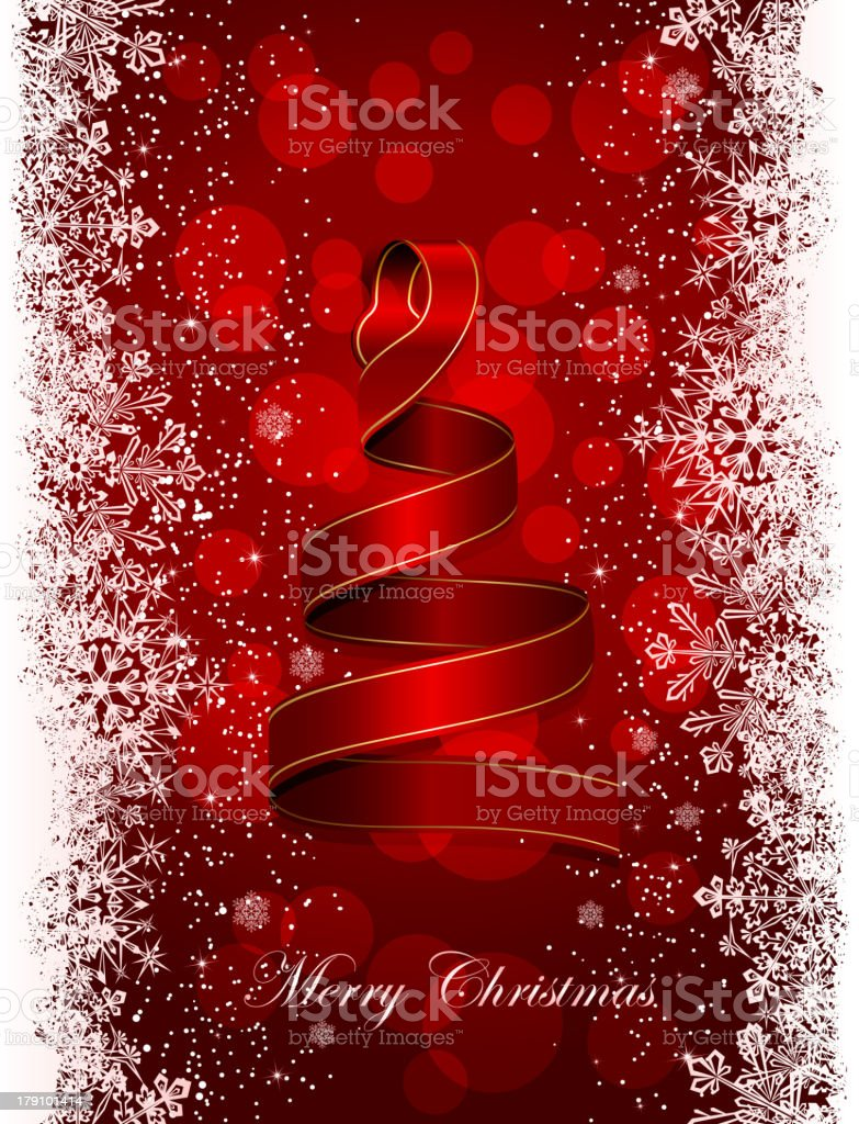 Christmas tree from ribbon royalty-free christmas tree from ribbon stock vector art & more images of backdrop