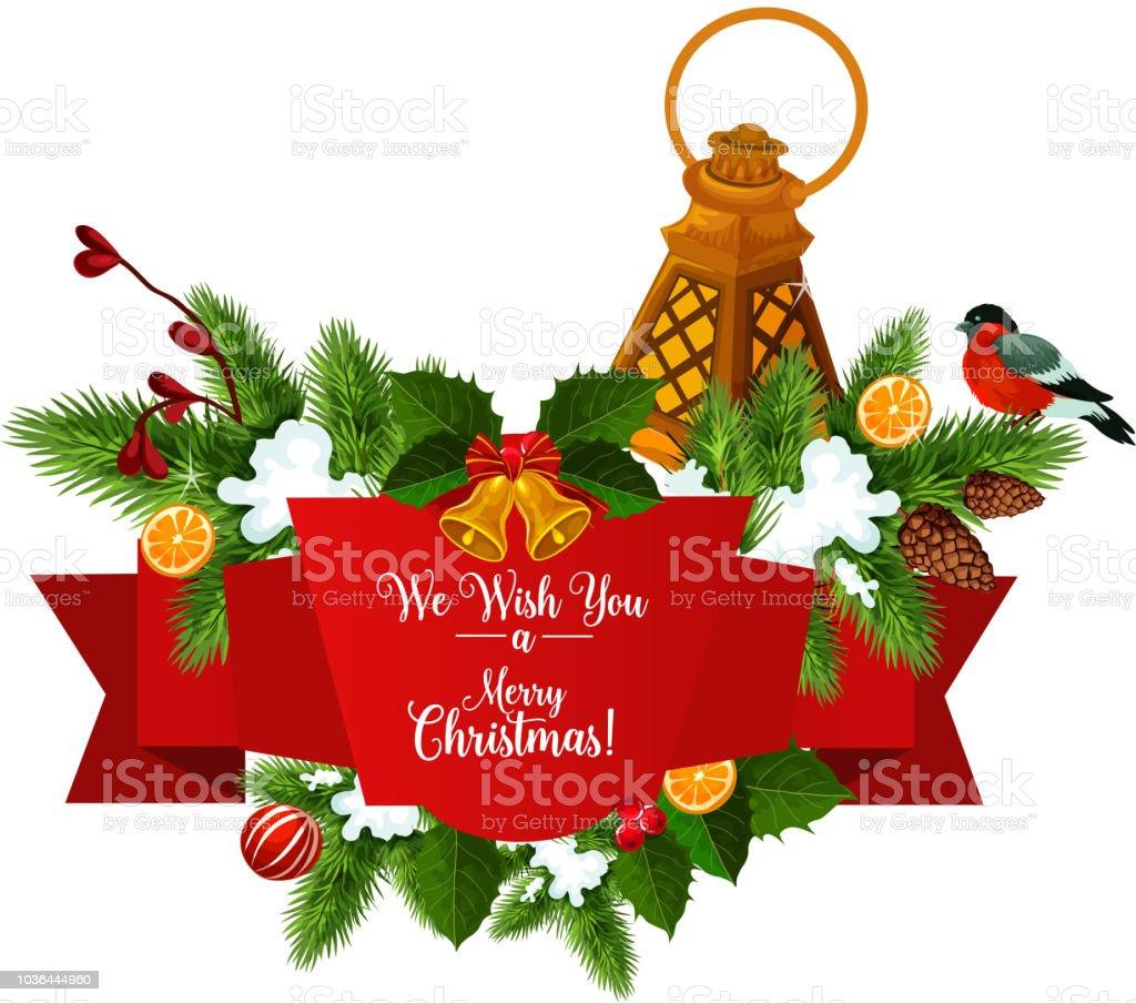 Weihnachtsbaum Girlande.Weihnachtsbaum Girlande Mit Bandbanner Stock Vektor Art Und Mehr