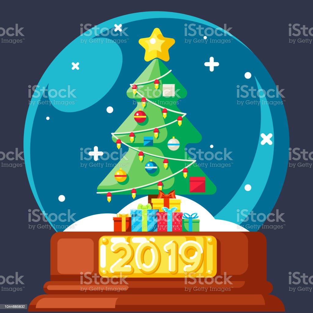 2019 Weihnachtsbaum Geschenk Box Ball Flach Glasdesign ...