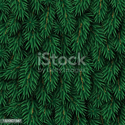 istock Christmas tree green background 1320831587
