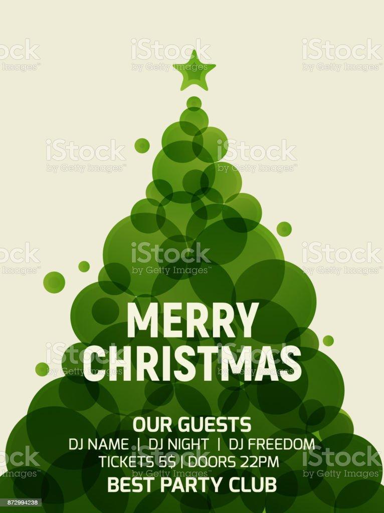 Ilustración De árbol De Navidad Tarjeta De Felicitación