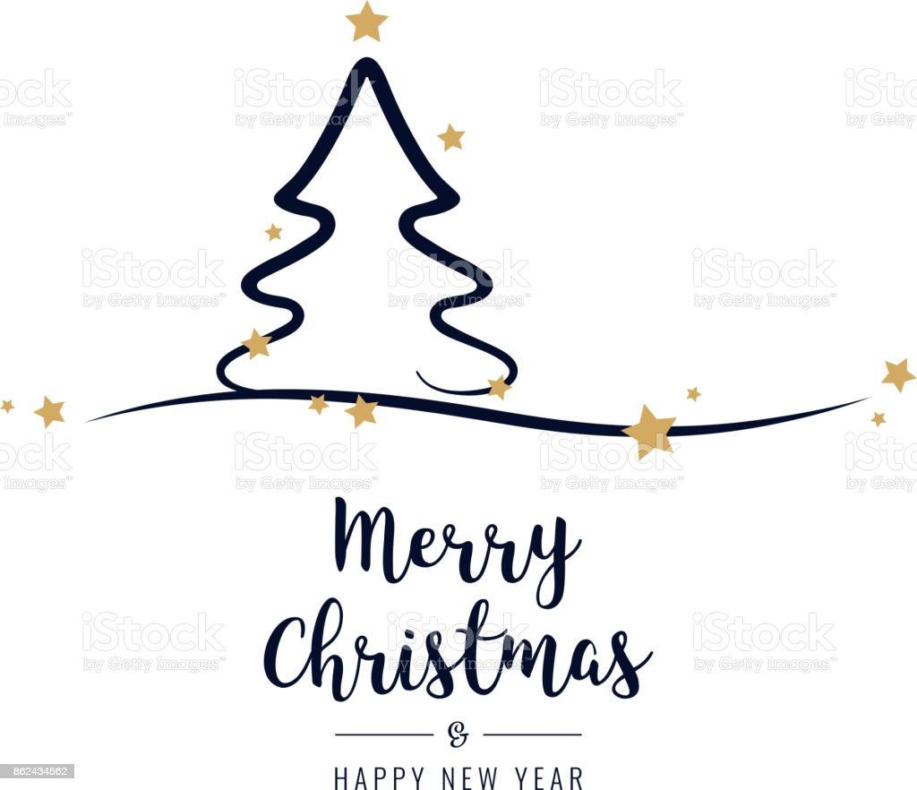 Sterne Für Weihnachtsbaum.Weihnachtsbaum Grüße Goldene Sterne Weißer Hintergrund Stock Vektor
