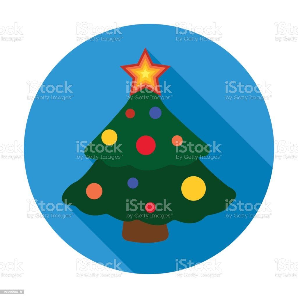 Weihnachtsbaumsymbol Im Flachen Stil Isoliert Auf Weißem Hintergrund ...