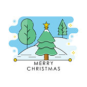 Christmas Tree icon vector illustration isolated on white background. Christmas Pine Tree in trendy flat design style. Christmas Tree vector icon modern and simple flat symbol for website, mobile, logo, app design. Vector EPS 10
