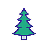 istock Christmas tree icon vector. Isolated contour symbol illustration 1206839921