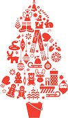 Christmas Tree. Icons. Additional Zip file contains: .AI(8), PDF and High res JPEG.