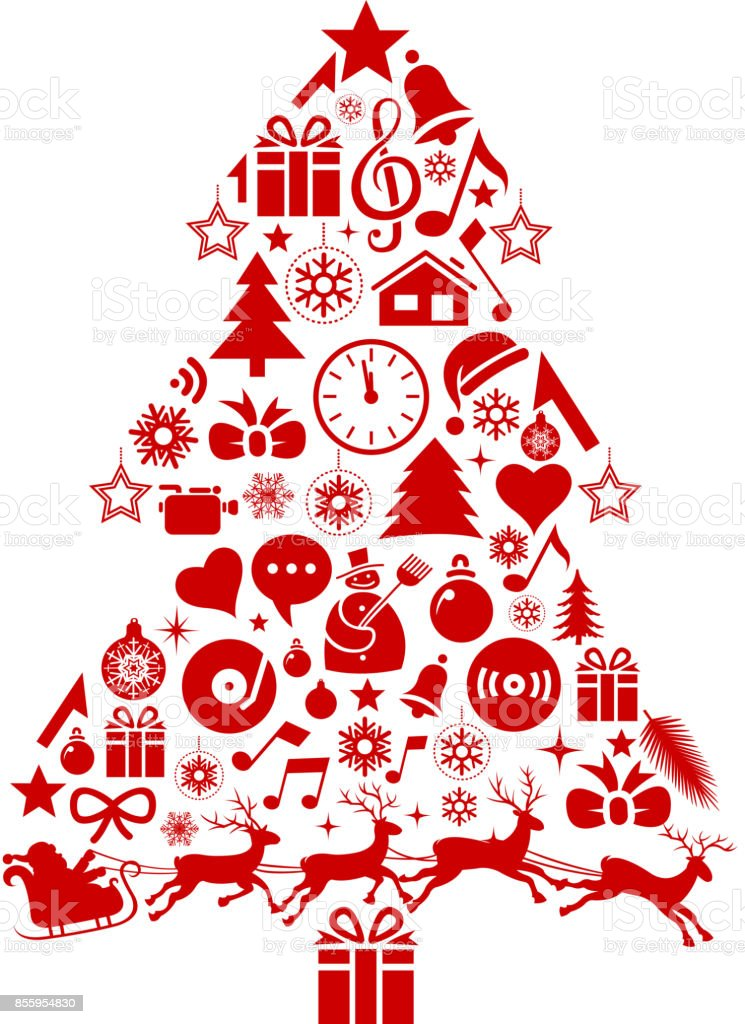 Christmas Tree Icons.Christmas Tree Icons Stock Illustration Download Image Now