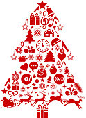 drawn of vector Christmas tree symbols.This file has been used illustrator cs3 EPS10 version feature of multiply.