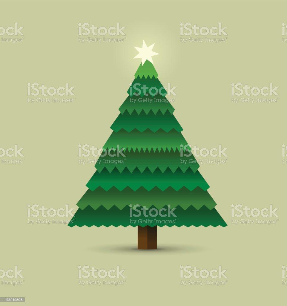 christmas tree - Illustration vector art illustration