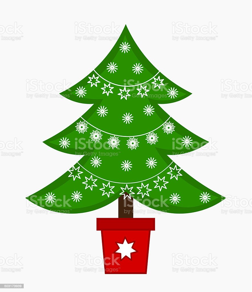 Christmas Tree Illustration Stock Vector Art More Images Of