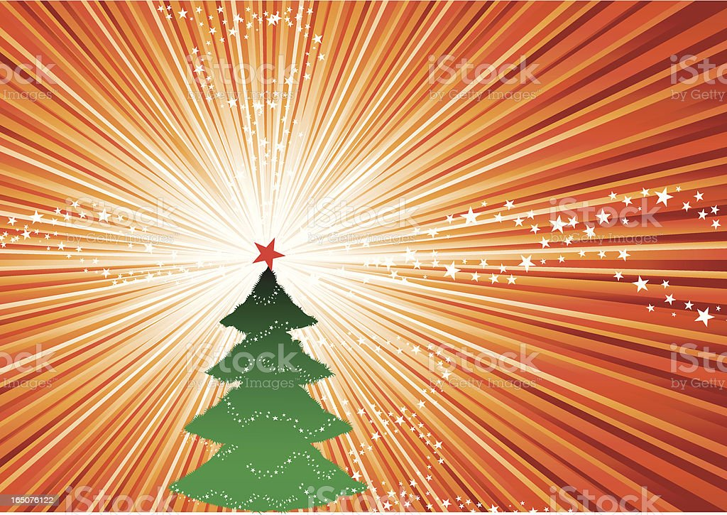 Christmas Tree in a glorious day royalty-free stock vector art