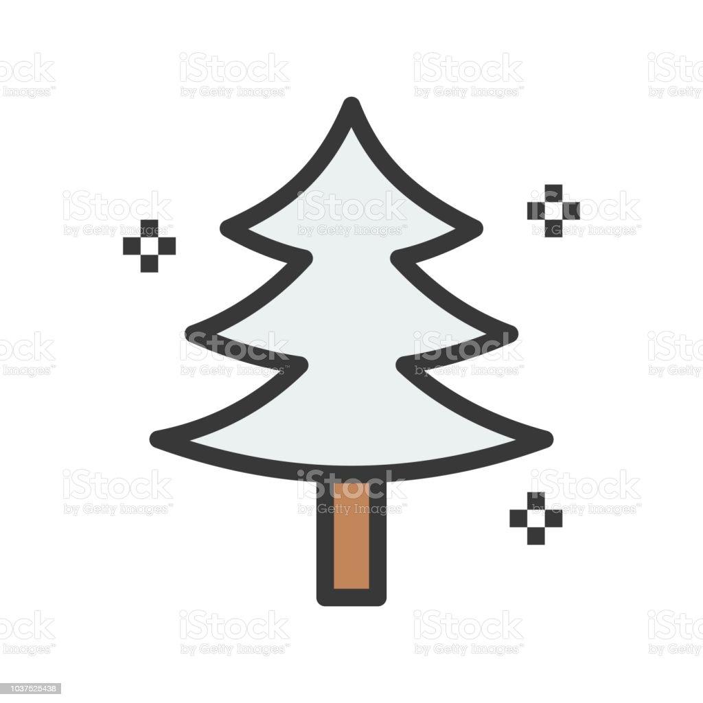Symbol Weihnachtsbaum.Weihnachtsbaum Im Winter Schnee Fällt Frohe Weihnachten Thema Satz