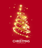 Design of vector Christmas tree bright light card. This file of transparent and created by illustrator CS6.