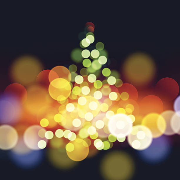 Royalty free christmas tree lights outside clip art vector images christmas tree lights background vector art illustration sciox Images