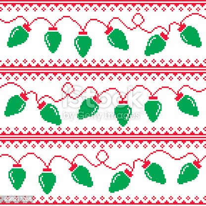 Christmas Tree Lights Seamless Pattern Ugly Christmas ...