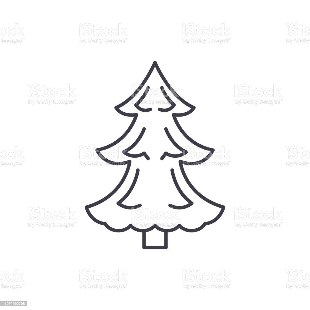 Symbol Weihnachtsbaum.Linienkonzept Symbol Weihnachtsbaum Weihnachtsbaumvektor