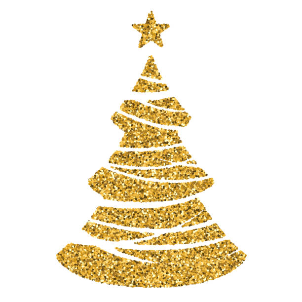 Best Sparkly Christmas Tree Illustrations, Royalty-Free ...