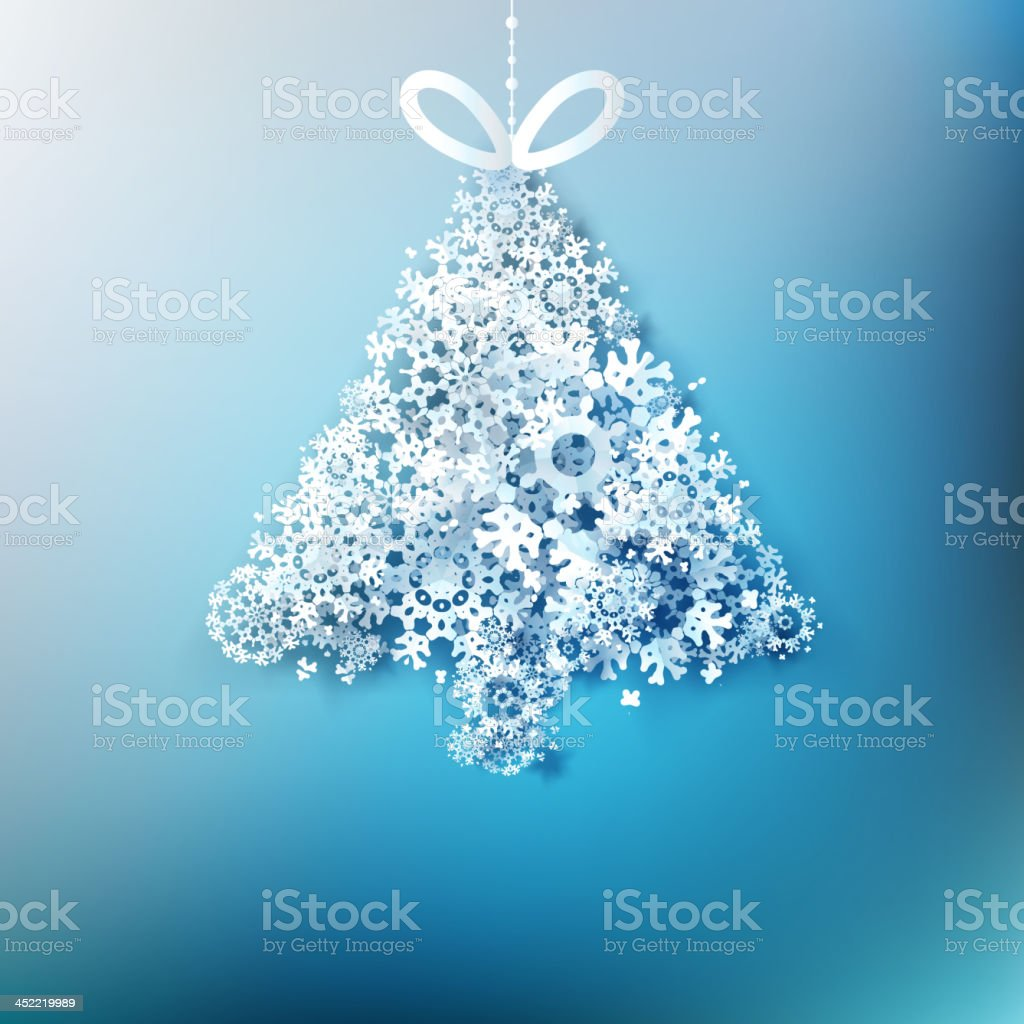 Christmas tree  made from paper snowflakes. EPS 10 royalty-free stock vector art