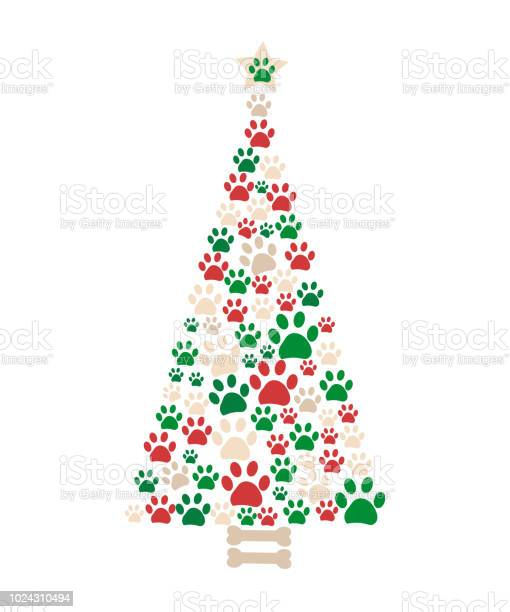 Christmas tree made of bone and paw prints new year greeting card vector id1024310494?b=1&k=6&m=1024310494&s=612x612&h=m99kmfoslquyknanout90araus51anghsrzf5uns3ww=