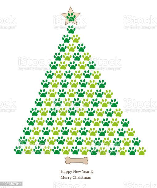 Christmas tree made of paw prints happy new year and merry christmas vector id1024307944?b=1&k=6&m=1024307944&s=612x612&h=4dd2usnevpeadwdr47kghdo5xvxzayrhhaynu5idx s=