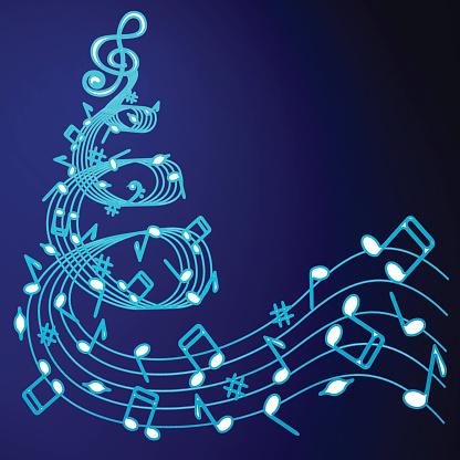 Christmas tree of music .