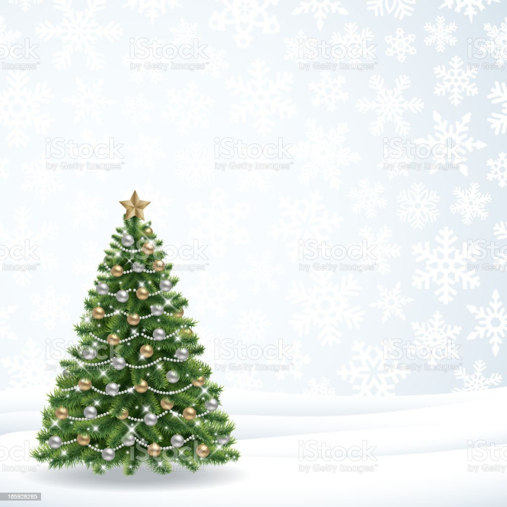 Christmas tree on a white background with snowflakes royalty-free christmas tree on a white background with snowflakes stock vector art & more images of backgrounds