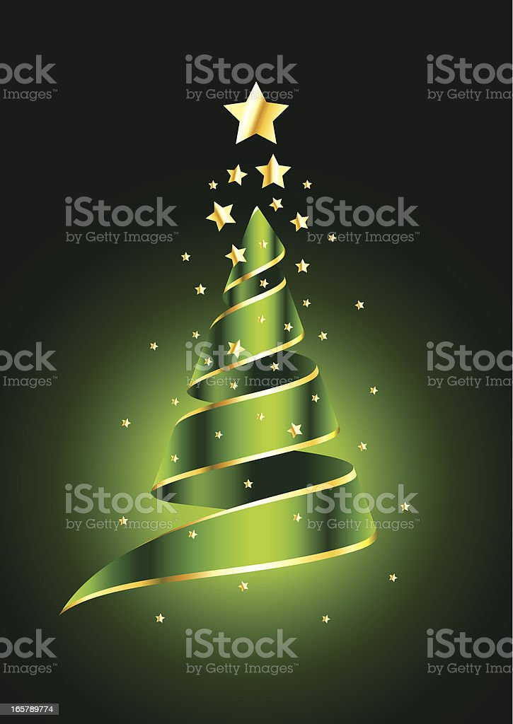 Christmas tree on green background royalty-free stock vector art